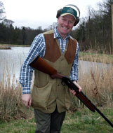 Billy Gordon, 22 times Scottish Champion, provides clay pigeon tuition at Winton
