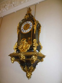 Drawing room clock at hospitality venue Winton House.