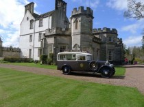 Winton House with Lucas ice cream van at Family Spring Open Day