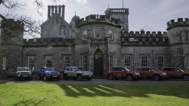 Jeep Renegades Launch Event - Lined up Outside Winton House