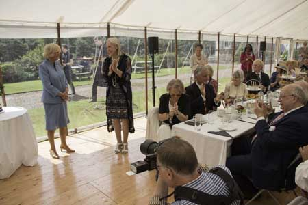 duchess-of-rothesay-tea-party-catered-by-appetite-direct-at-winton-house- cutting-cake