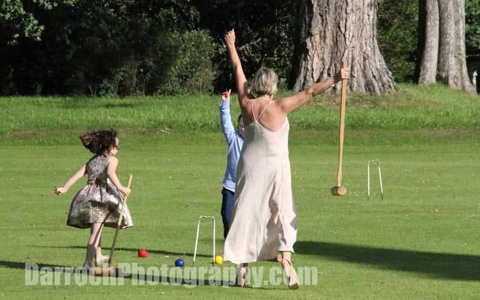 Croquet at informal wedding - Winton Castle