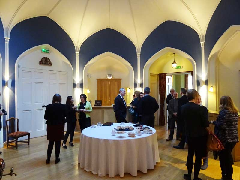 BGBN guests in Winton Castle's Octagon Room