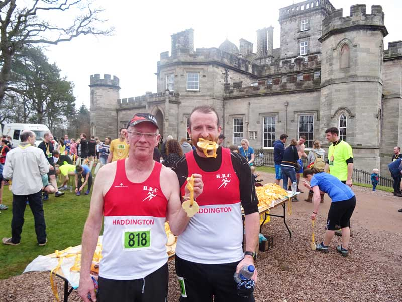 Haddington Running Club with Winton Castle Medals