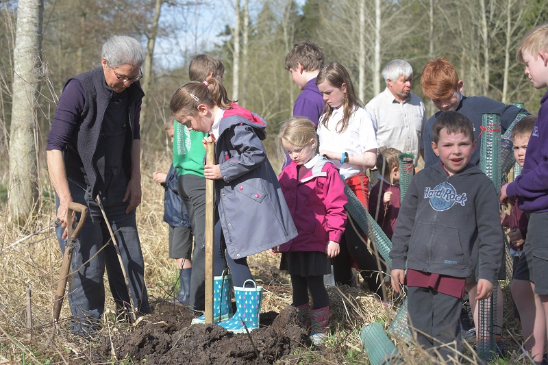 Tree Planting at Winton Castle