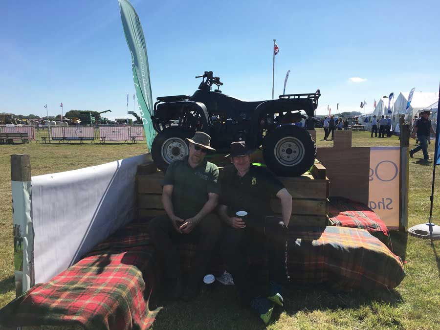 Quad Bike at Haddington Show - Winton Castle events venue East Lothian