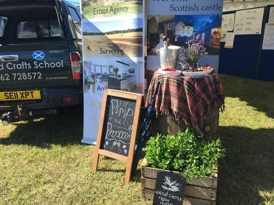 Pimped Up Prosecco at Haddington Show by Winton Castle