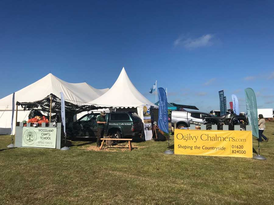 Winton Castle & Ogilvy Chalmers Share Stand at Haddington Show