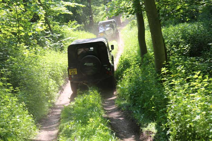 4 x 4 off-road driving at Winton Castle