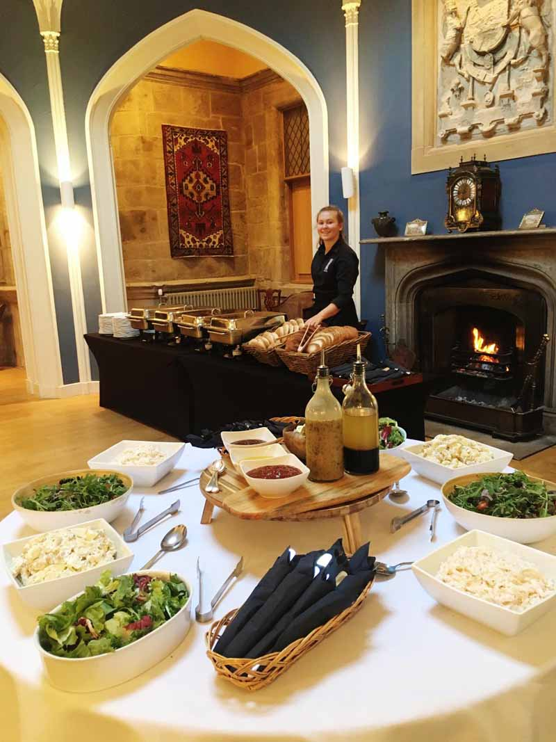 Mercat Tours lunch in Octagon Hall at Winton Castle near Edinburgh