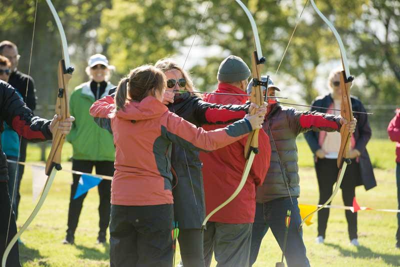 Archery at Winton Castle on Winton Open Day