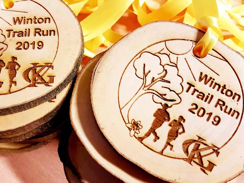 Carved Medals - Winton Trail Run 2019
