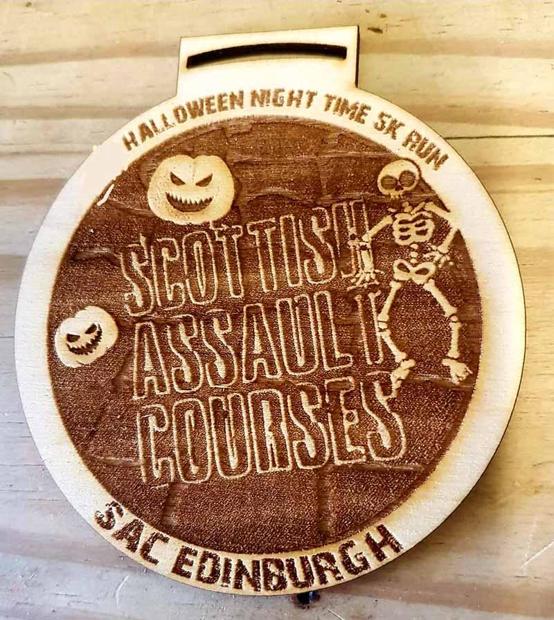 Winton Halloween 5K Run Medal 2019