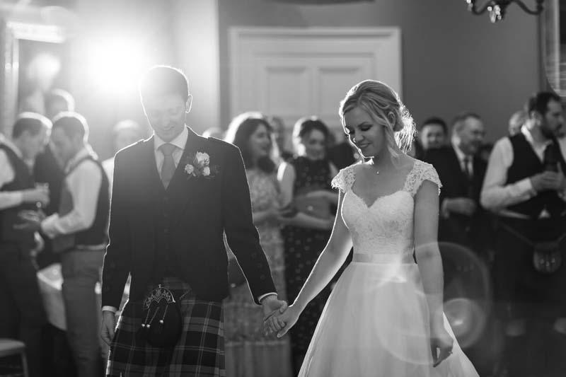 Winton Castle Guests Dancing at Wedding Venue