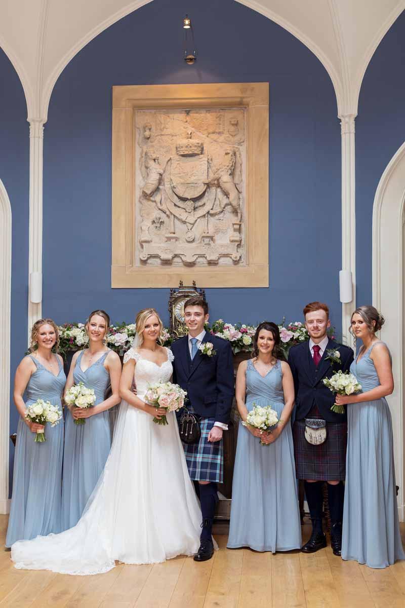 Octagon Hall_Wedding Guests_Winton Castle Wedding Venue