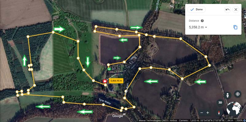 Winton Halloween 5K Obstacle Run Route