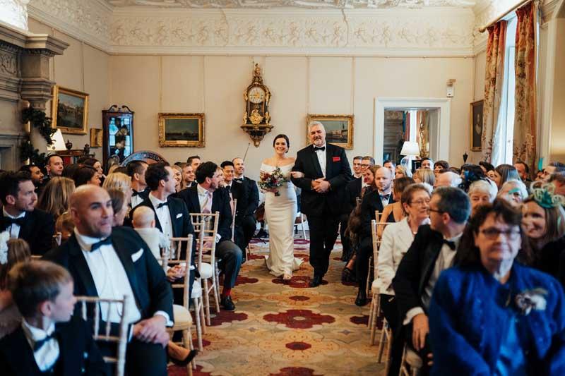Wedding Ceremony Drawing Room Winton Castle
