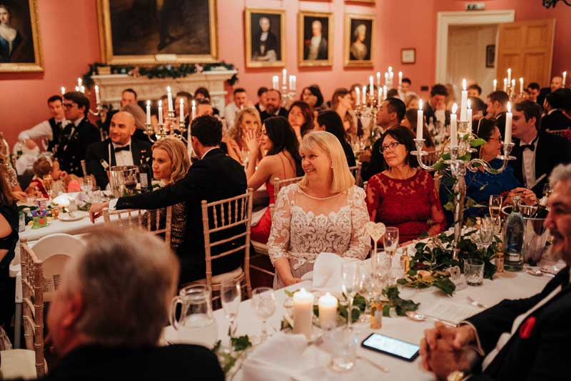 Dining Room Wedding Winton Castle