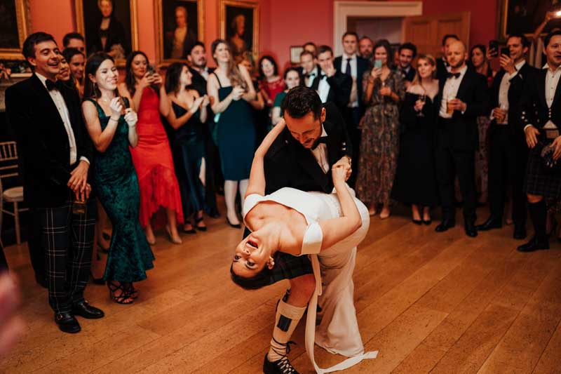 Wedding Couple Dancing at Winton Castle