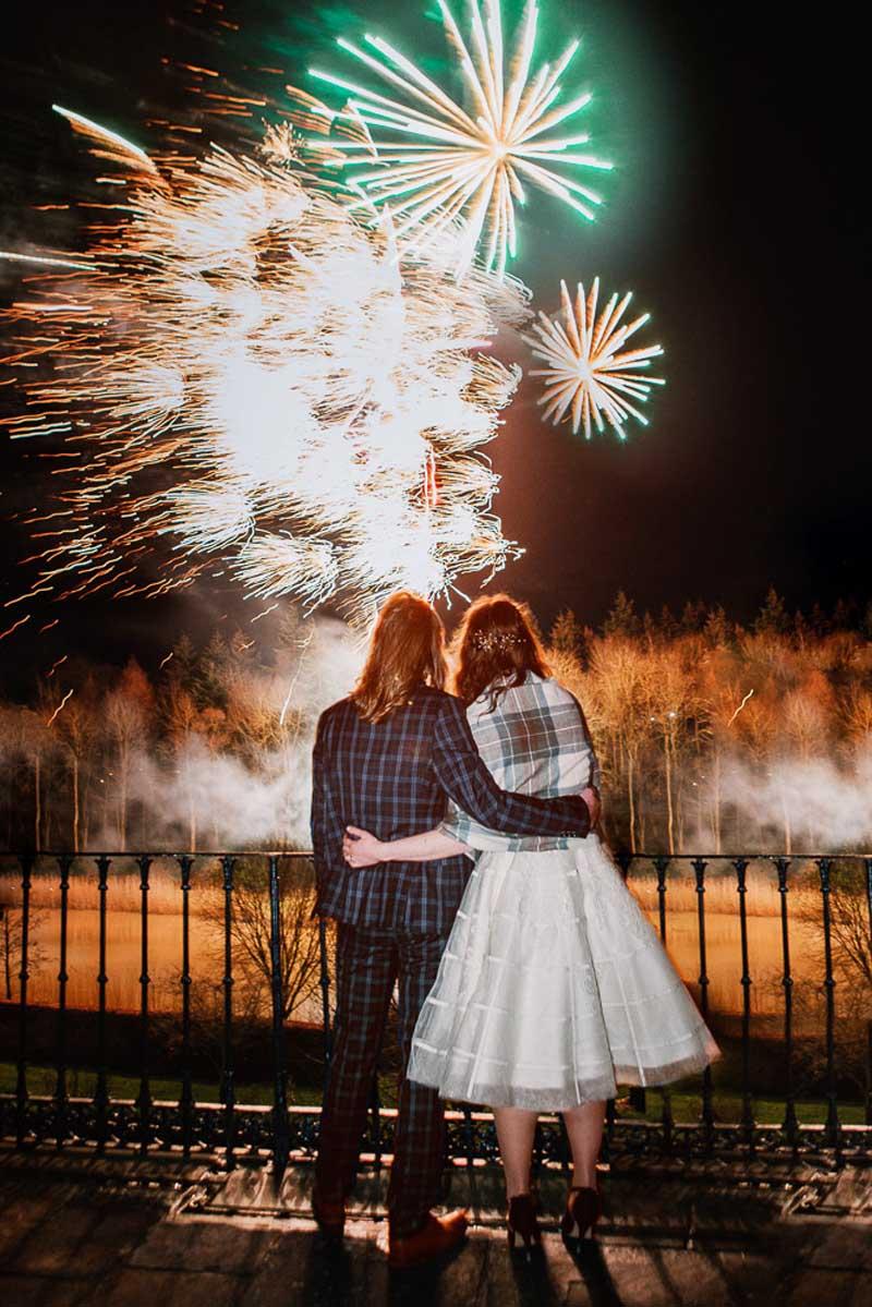 Wedding Fireworks at Winton Castle