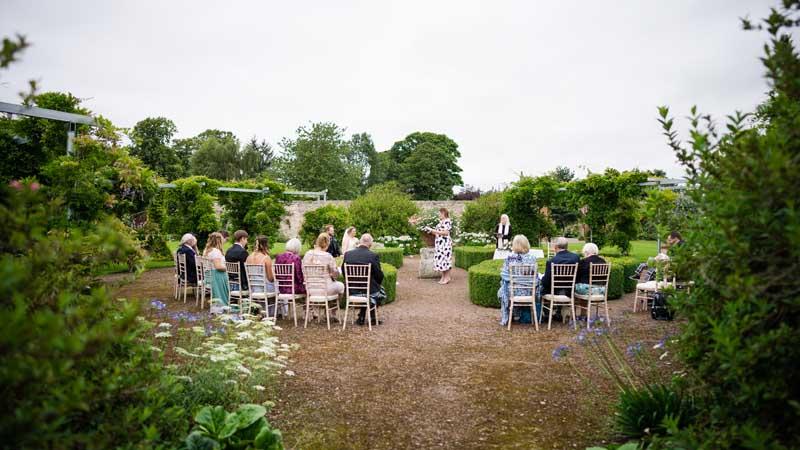 Wedding Ceremony in Winton Walled Garden