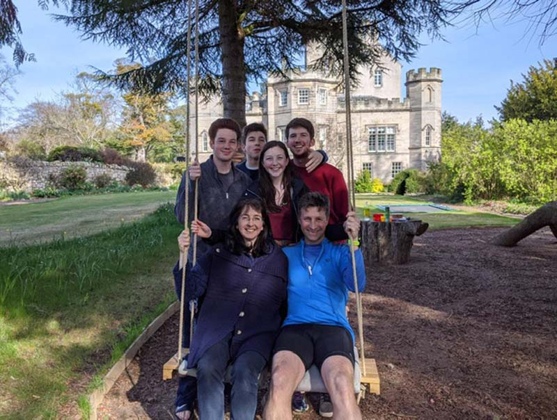 Ogilvy Family on Swing at Winton Castle