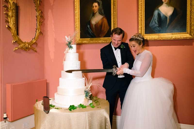 Wedding Cake Cutting at Winton Castle
